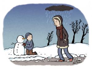 Illustration om vinterdepression til Magasinet Arbejdsmiljø