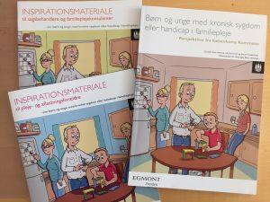 Forsider til rapport om børn med handicap i familiepleje - lavet til Videnscenter for Anbragte Børn og Unge.