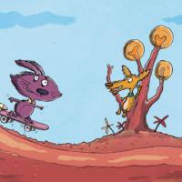 Kanin_og_hund_på_raketskateboard