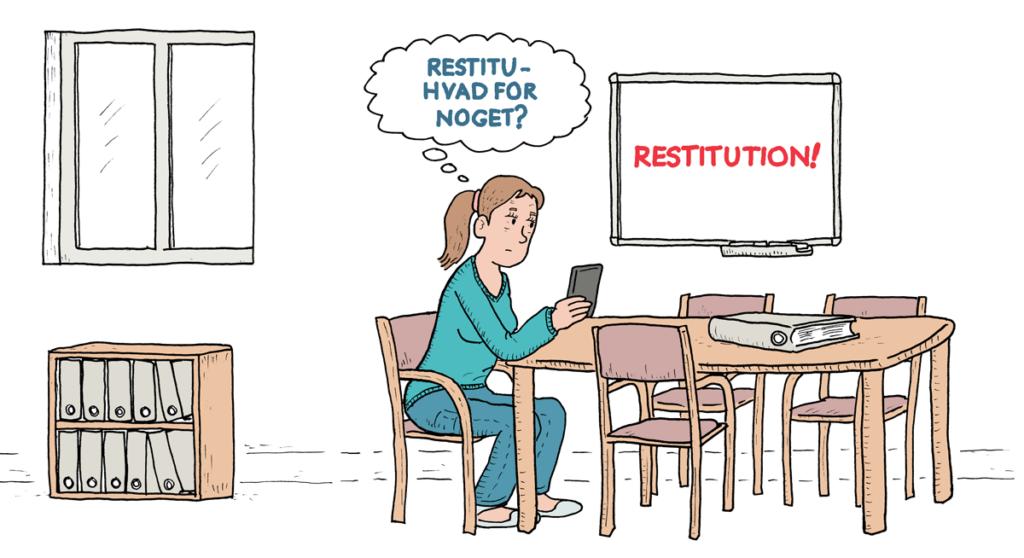 Medarbejder på kontor, tænker over restitution og pausekultur